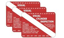 VISUAL CYLINDER INSPECTION  Sticker VIP for Scuba Dive Tank pack of 3 pcs.