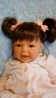 """Lee Middleton 21""""vinyl baby girl LE doll reimagined Chaps outfit pacifier EUC"""
