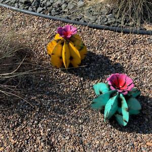Mexican Metal Art Metal Cactus Sculpture Garden Yard Sculpture Home Decor 2021