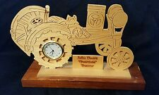 Unique Carved Wooden John Deere Overtime Tractor Desk Clock