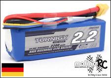 1x Turnigy 2200mAh 3S 20C-30C NEU POWER 3S Lipo Akku 11,1V Blade 350QX 450X 450u