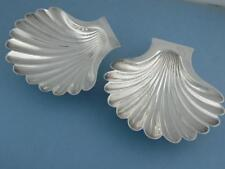 Georgian Silver pr Shell Butter Dishes JOHN PARKER I EDWARD WAKELIN London 1700s