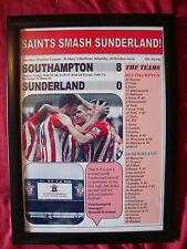 Southampton 8 Sunderland 0 - 2014 - framed print