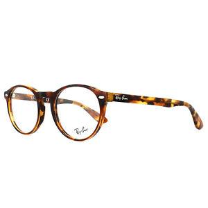 Ray-Ban Eyeglasses Frames 5283 5675 Top Havana Brown Yellow 51mm Mens Womens