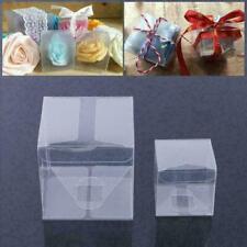 10pcs Square Transparent PVC Cube Gift Candy Boxes Clear Wedding Party Deco Y2Q5