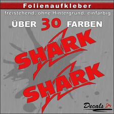 2er SET - SHARK Sponsoren-Folienaufkleber Auto/Motorrad - 30 Farben - 18cm