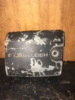 "McCulloch Mini Mac 35 Chainsaw ""Clutch Cover"" Used."