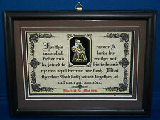 FOR THIS REASON A MAN SHALL-Bible Verse Scripture Plaque Christain,Wedding Gifts