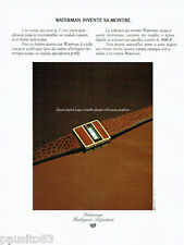 PUBLICITE ADVERTISING  016 1979  WATERMAN  montre quartz laque Porphyre