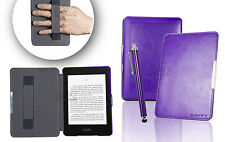 Purple Leather Case for Amazon Kindle Paperwhite 5 6 WiFi Cover W/ Sleep Mode