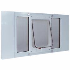 IDEAL PET PRODUCTS 33SWDCK  White ALUMINUM SASH CHUBBYKAT FLAP PET DOOR MEDIU...