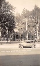 Muskegon MI~4:44 PM @ The Courthouse~Nice Closeup of 1920s Vintage Car RPPC
