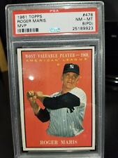 1961 ROGER MARIS TOPPS MVP. #47 NM-MT 8 ( PD )