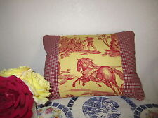 Pierre Deux Red Yellow French Country Toile Pillow Fabric Les Delices Saisons