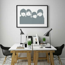 Beatles Stencil - Reusable Wall stencil -Wall Art -DIY Art - Famous Faces -10016