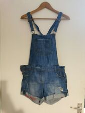 Ladies New Look Denim Dungarees Shorts Size 10