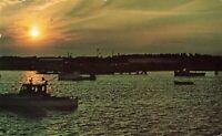 Postcard Sunrise at Wells Harbor Maine