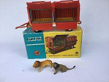 Corgi Toys Chipperfields circus animal cage 1123 1961-62 Grande-Bretagne Vintage RARE