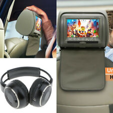 "Car Kopfstütze 7""Monitore DVD Player FM USB IR Fernbedienung SD Spiele+Kopfhörer"