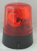 "Red 4"" Lighted Fire Police Light Beacon Rotating Spinning Party Lamp 3AA Battery"