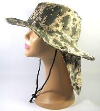 ARMY DIGITAL CAMO BOONIE HAT W/BUCKET EAR FLAP W/NECK SUN PROTECT HUNT FISH HIKE