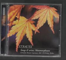 STRAUSS. Songs & Arias. Metamorphosen. Christine Brewer.   BBC CD HLL.8