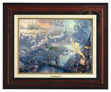 Thomas Kinkade Tinker Bell & Peter Pan Canvas Classic (Burl Frame) Disney