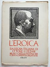 """LIBRO ANTICO LEGATURA """"L'EROICA"""" ETTORE COZZANI VOLUME 176-177 1933"""
