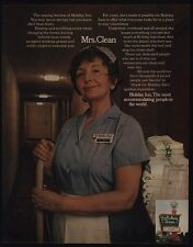 1972 HOLIDAY INN Hotel -  Mrs. Clean - Maid Pat Caserta VINTAGE AD