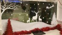 winter wonderland window scene