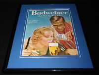 1958 Budweiser Beer 11x14 Framed ORIGINAL Vintage Advertisement