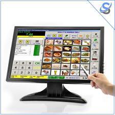 """Monitor LCD Touch Screen 19"""" Risoluzione 1440x900 VGA AV HDMI TV Per PC/POS"""