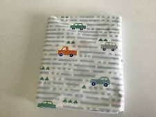 Pottery Barn Kids FULL FLAT SHEET Multi-color Cars 100% Cotton - NEW