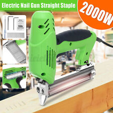 Electric Staple Gun framing Straight Nail Heavy Duty Stapler Woodworking Tool