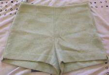 Ladies Shorts Green Designer Short Shorts GUC-VGUC
