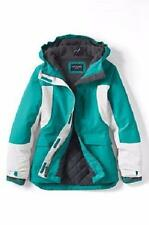 LANDS' END Little Girls' L(6X) Gulf Teal Waterproof Squall® Parka or Coat NWT