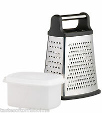 Master Class Stainless Steel Four Sided Kitchen Box Grater With Collecting Box