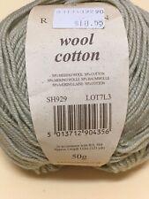 4 Balls Beige Gray Sh29 Rowan Wool Cotton Yarn - 50 grams Each - Same Lot