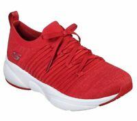 Slip On Red Skechers Shoes Memory Foam Women Comfort Casual Athletic train 13024