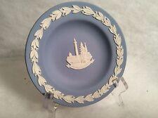"Vintage Wedgwood Blue Jasperware Trafalgar square sauser 4-1/2"""