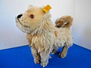"RARE Vtg 10"" Mohair STEIFF1928 Classic CHOW CHOW Standing Dog #035036 BUTTON/TAG"