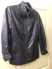 Cigno Nero Purple Leather Jacket M NEW