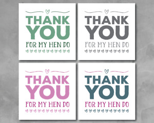 Thank You For my hen greeting card hen party hen weekend friends thank you love