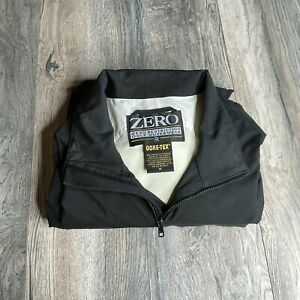 Zero Restriction Gore-Tex Golf Mens M Black Full Zip Gore-Tex Golf Jacket