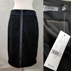 NWT $55 MSRP 7th Avenue Design New York & Company Velvet Skirt size 12 Sheath