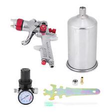 Car 1.4mm Nozzle 1000CC Gravity Feed HVLP Air Paint Spray Gun & Regulator Kit JS