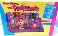 VINTAGE FLINTSTONES 1990 HANNA-BARBERA VIDEO STORAGE CASE W BOX FRED Dino