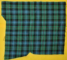 Gent's Green & Blue Tartan Plaid 'Swatch' Pocket Sqs