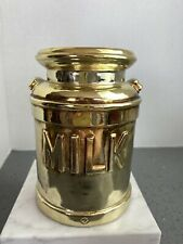 Gold Milk Can Planter, Utensil Holder, Decor Inarco Vintage from Japan R231