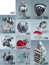 Craft D, Groß Ausverkauf Mehrere Sterling 925 Silber Reizend Perlen für Armband
